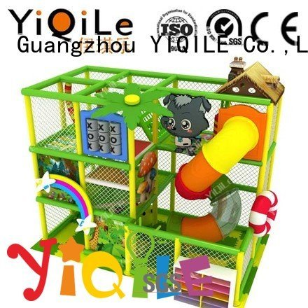 commercial indoor play structures adventure kid indoor playground manufacturer YIQILE Warranty