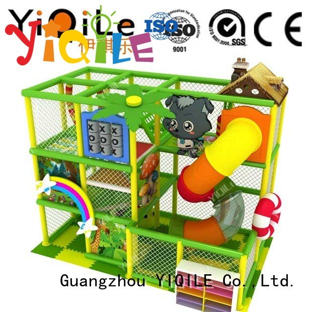 Hot commercial indoor play structures adventure park equipment YIQILE Brand