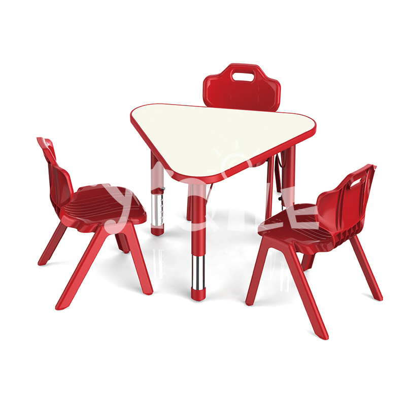 The most popular lifted height combinable kids table and chairs learning set