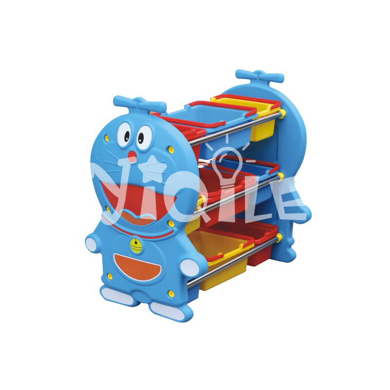 Kindergarten furniture plastic Doraemon modeling toy storage for children