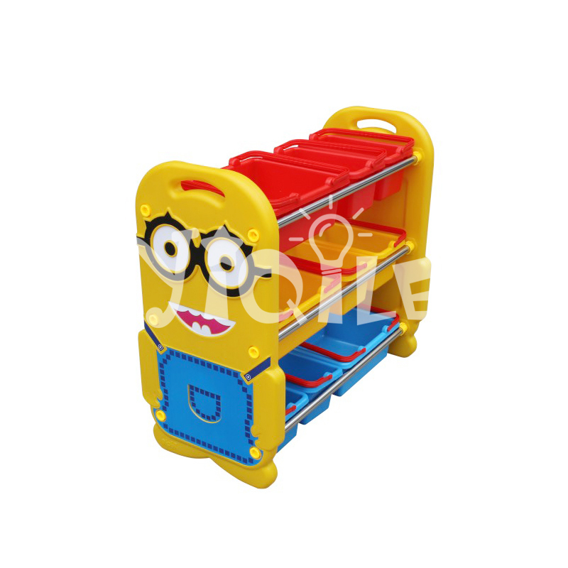 Minions modeling bright yellow plastic kids toy storage for kindergarten