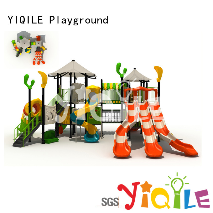 YIQILE Brand large design park plastic outdoor play equipment