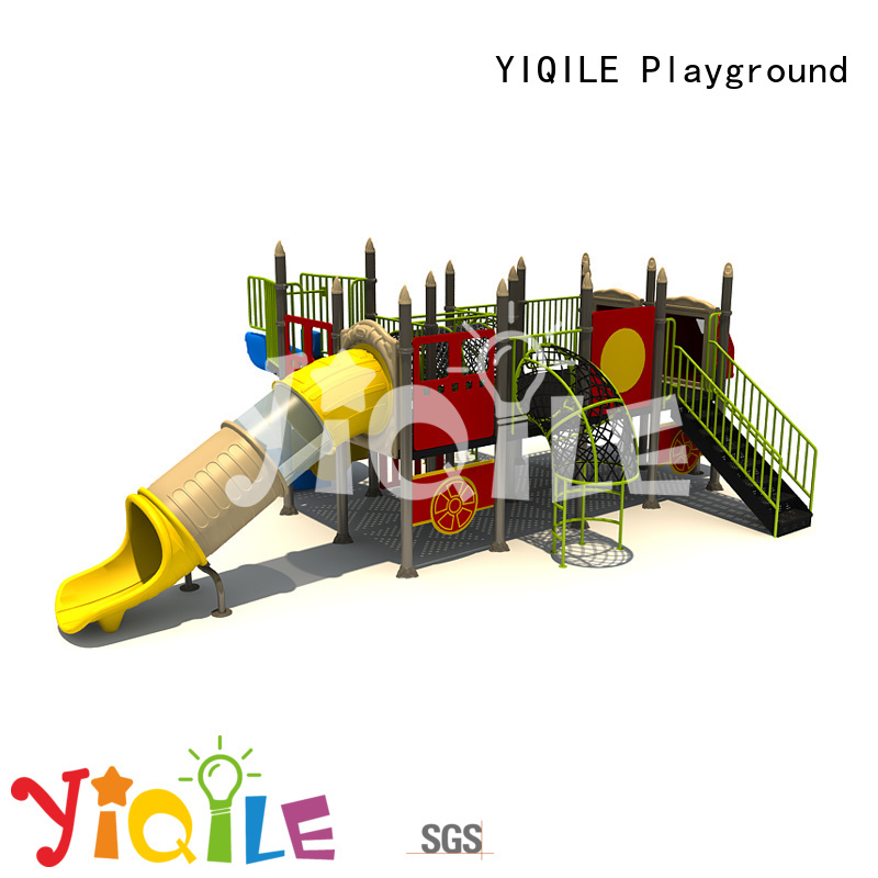 Custom brightly sale plastic outdoor play equipment