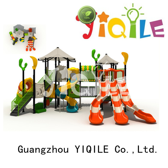 YIQILE Brand large park brightly plastic playground equipment