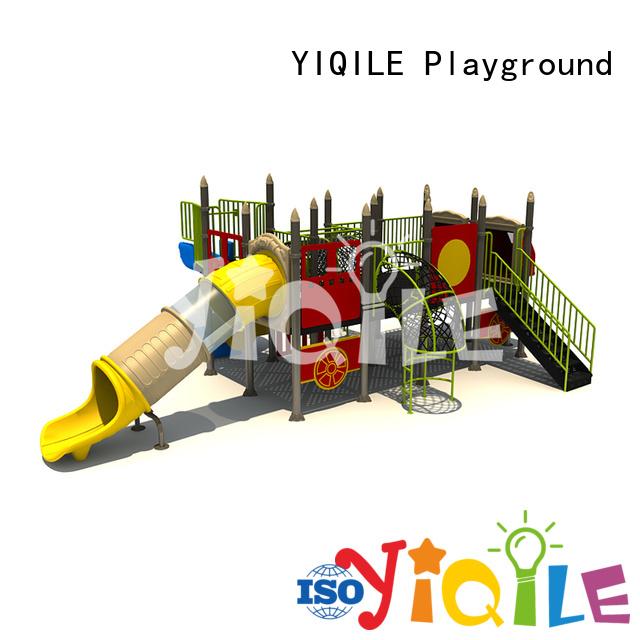 Custom plastic outdoor play equipment kindergarten unique wall YIQILE