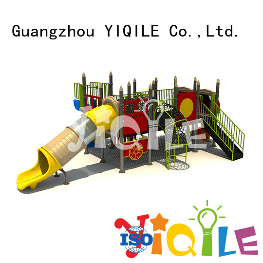 YIQILE Brand brightly wall newest plastic outdoor play equipment deluxe
