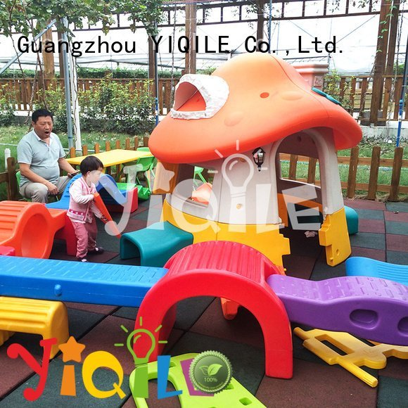 Hot kids outdoor play house on kids kindergarten YIQILE Brand