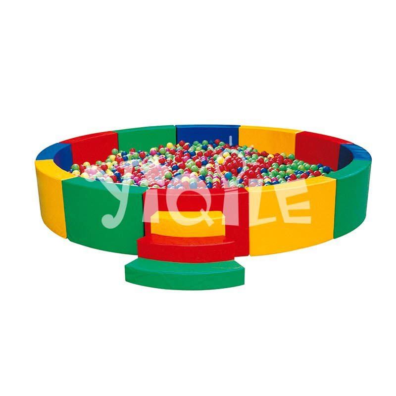 Kindergarten and preschool round colorized soft play ball pool for kids
