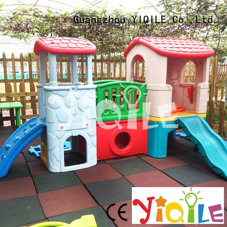 kids outdoor play house round colorful swing slide