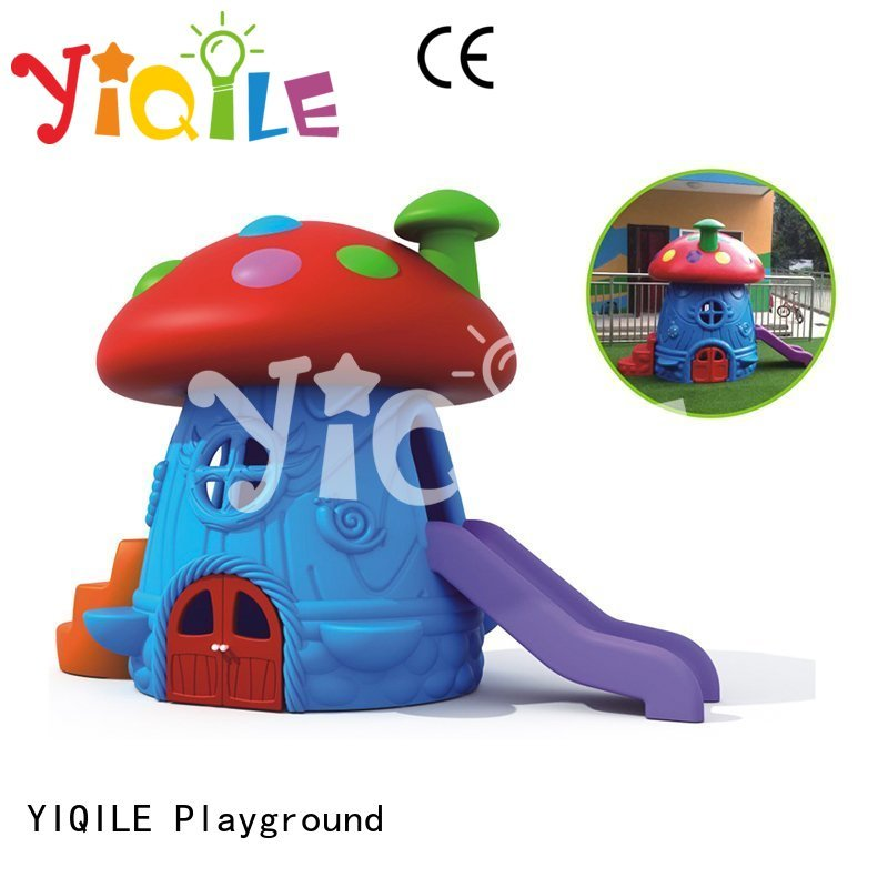 colorized Custom plastic swing slide wooden YIQILE