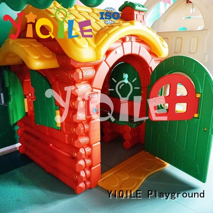 Wholesale color kids outdoor play house playhouse YIQILE Brand