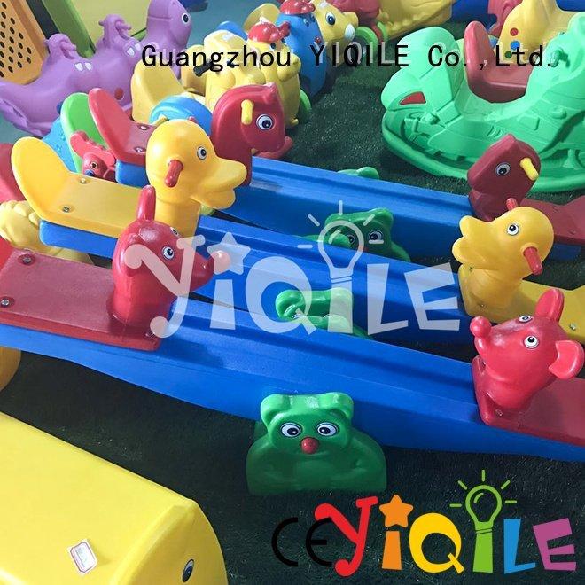OEM kids outdoor play house kindergarten playhouse forest swing slide
