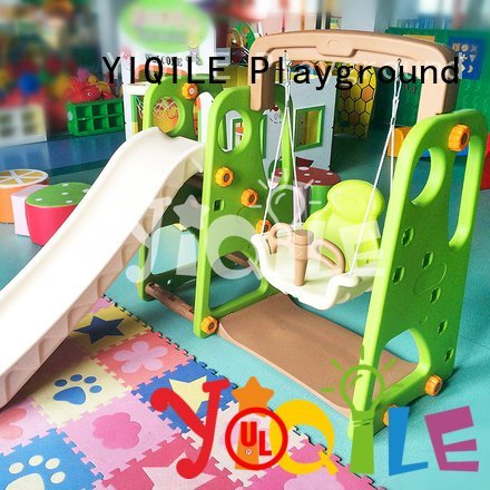 kids outdoor play house colorized swing slide doorbell