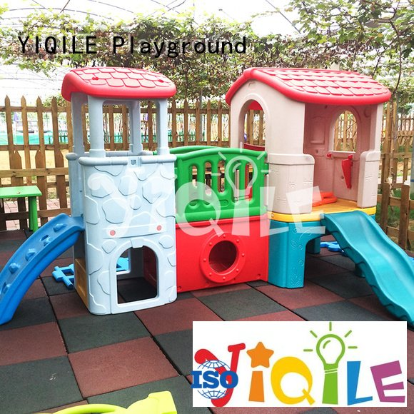 Hot kids outdoor play house soft swing slide preschool YIQILE