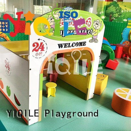 YIQILE kids outdoor play house welcome forest plastic