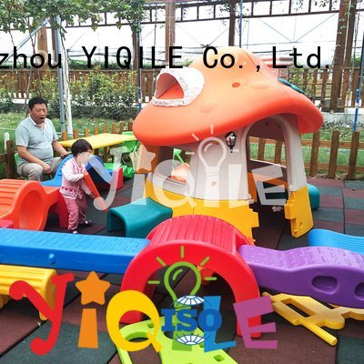 YIQILE plastic swing slide forest play