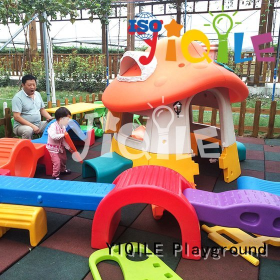 YIQILE Brand modeling play outdoor swing slide seesaw