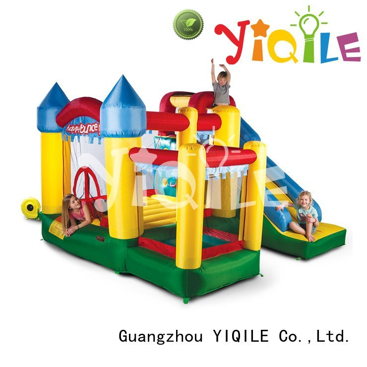Hot bouncy castle manufacturers animal inflatable castle adventure YIQILE