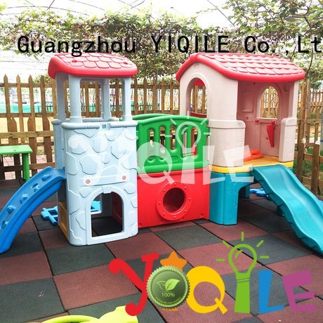 kids outdoor play house blowing swing slide YIQILE Brand