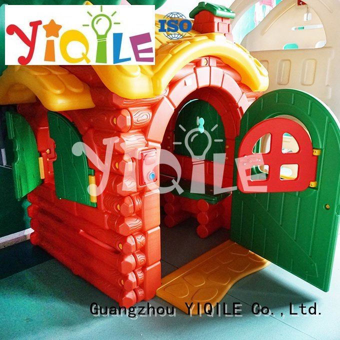 YIQILE Brand rotational kids outdoor play house soft supermarket
