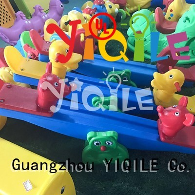 kids outdoor play house animal popular swing slide quality YIQILE Brand