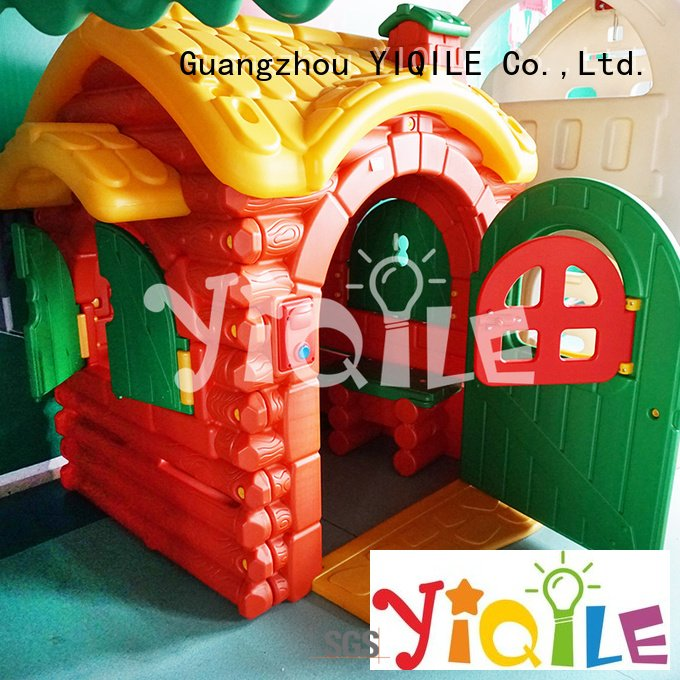Custom swing slide seesaw colorful playhouse YIQILE