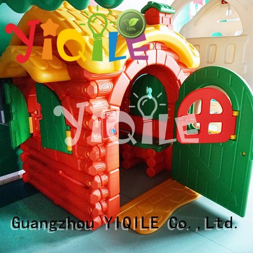 YIQILE Brand swing technology kids outdoor play house plastic kids