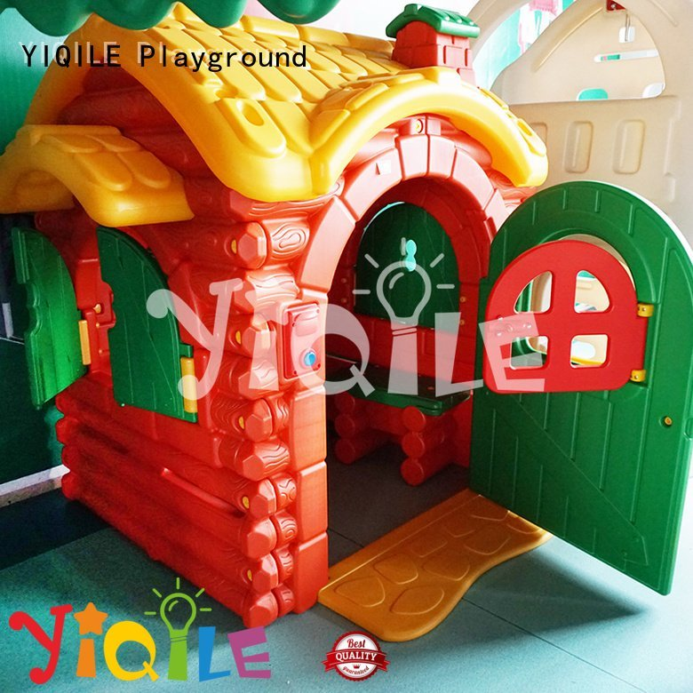 kids outdoor play house playhouse swing slide YIQILE