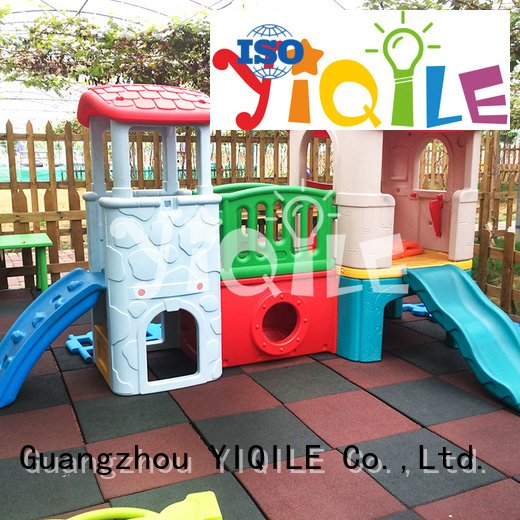 kids outdoor play house basketball slide OEM swing slide YIQILE