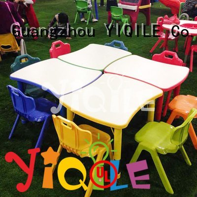 YIQILE Brand combined chair quality kids furniture table mdf